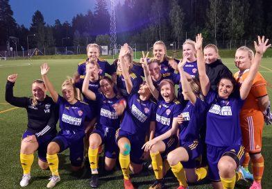 Naiset päättivät kauden maalikarkeloihin. PEPO-KJP Sudet 6-1 (4-0)