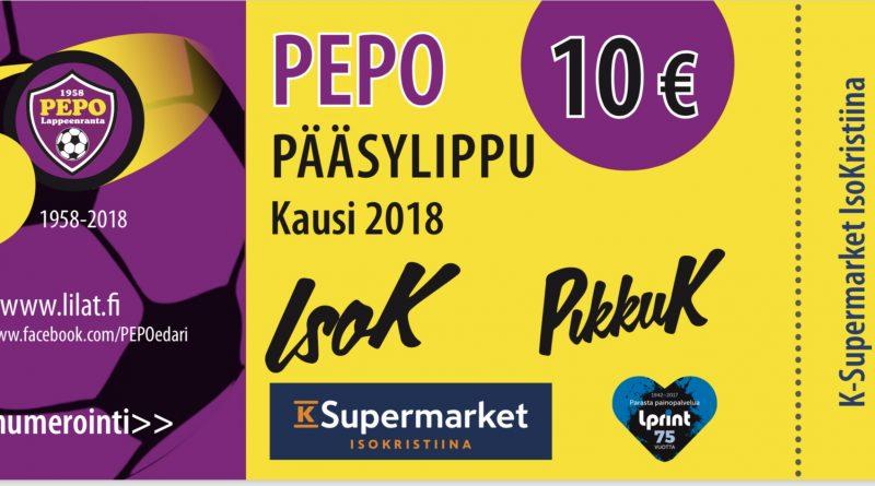 IsoK + PikkuK erikoislippuja tarjolla PEPO Miesten edustuksen kotiotteluihin!