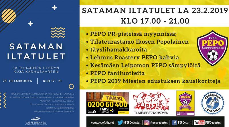 Sataman iltatulet -tapahtumassa lauantaina 23.2.2019 klo 17.00 – 21.00