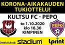 Korona-tukiottelu Kultsu FC – PEPO to 1.10.2020 klo 18.30 Kimpinen